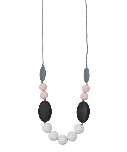 teething necklace stevie bubble gum