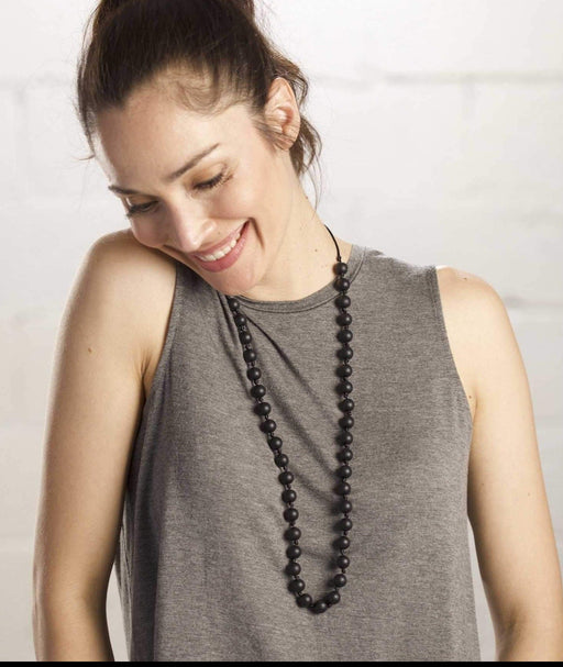 teething necklace for mom Silicone upper east side midnight