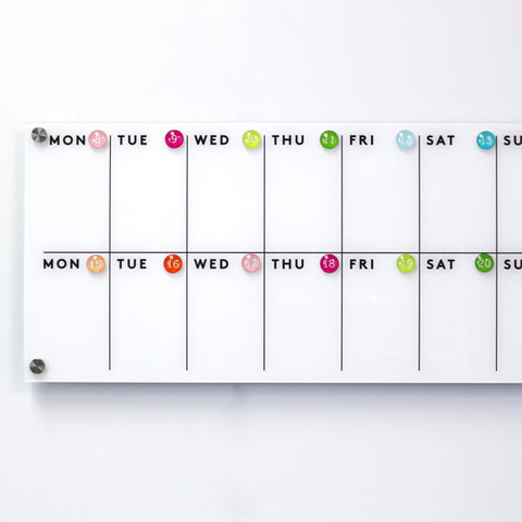 Magnetic Acrylic Calendar SAMPLE