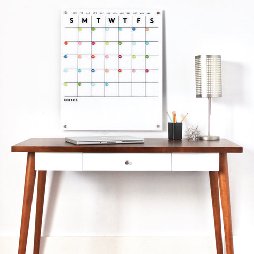 Magnetic Acrylic Calendar with Bottom Notes