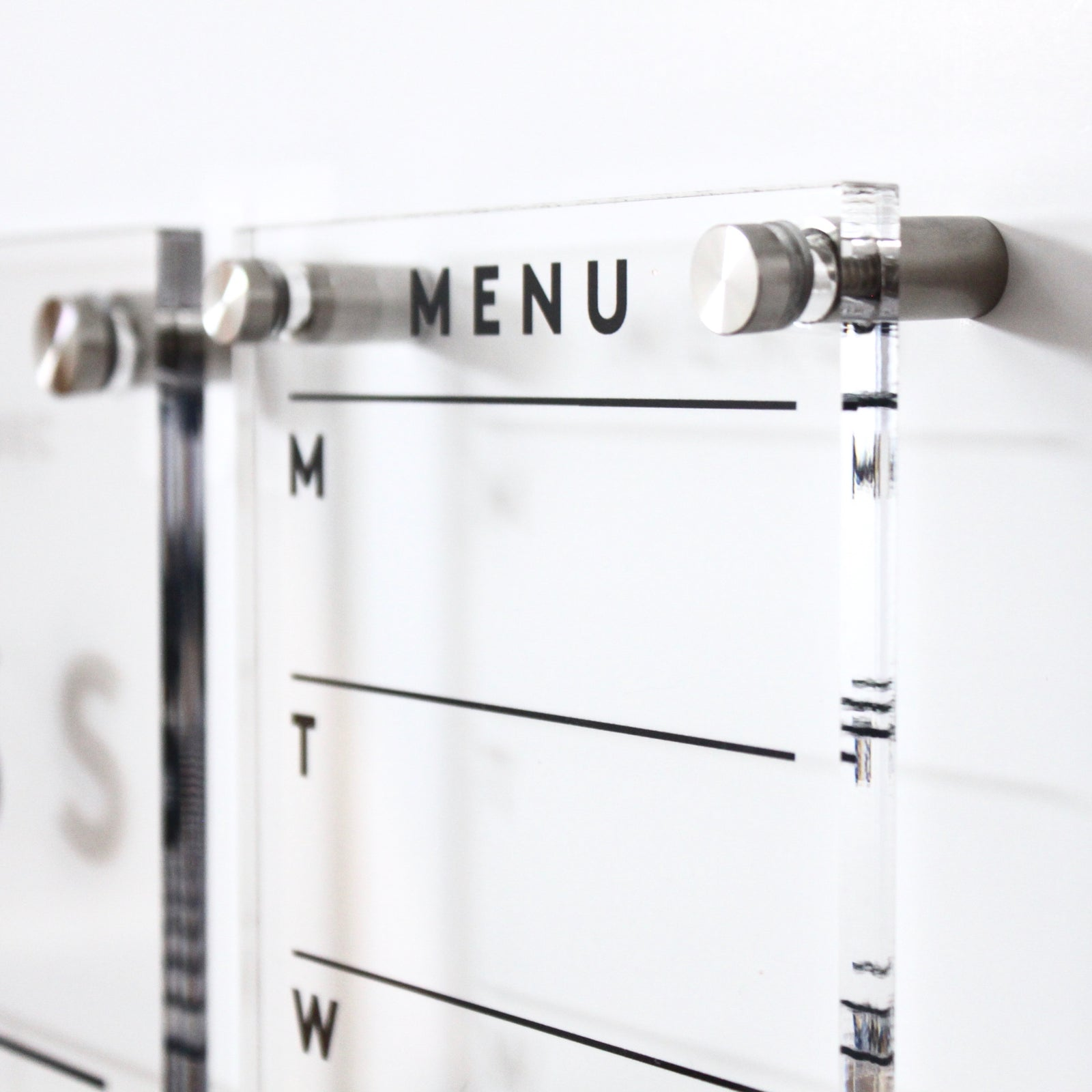 PREMIUM Acrylic Menu Board or To Do Board