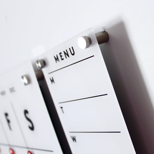 Magnetic Acrylic Menu Board or To Do Board
