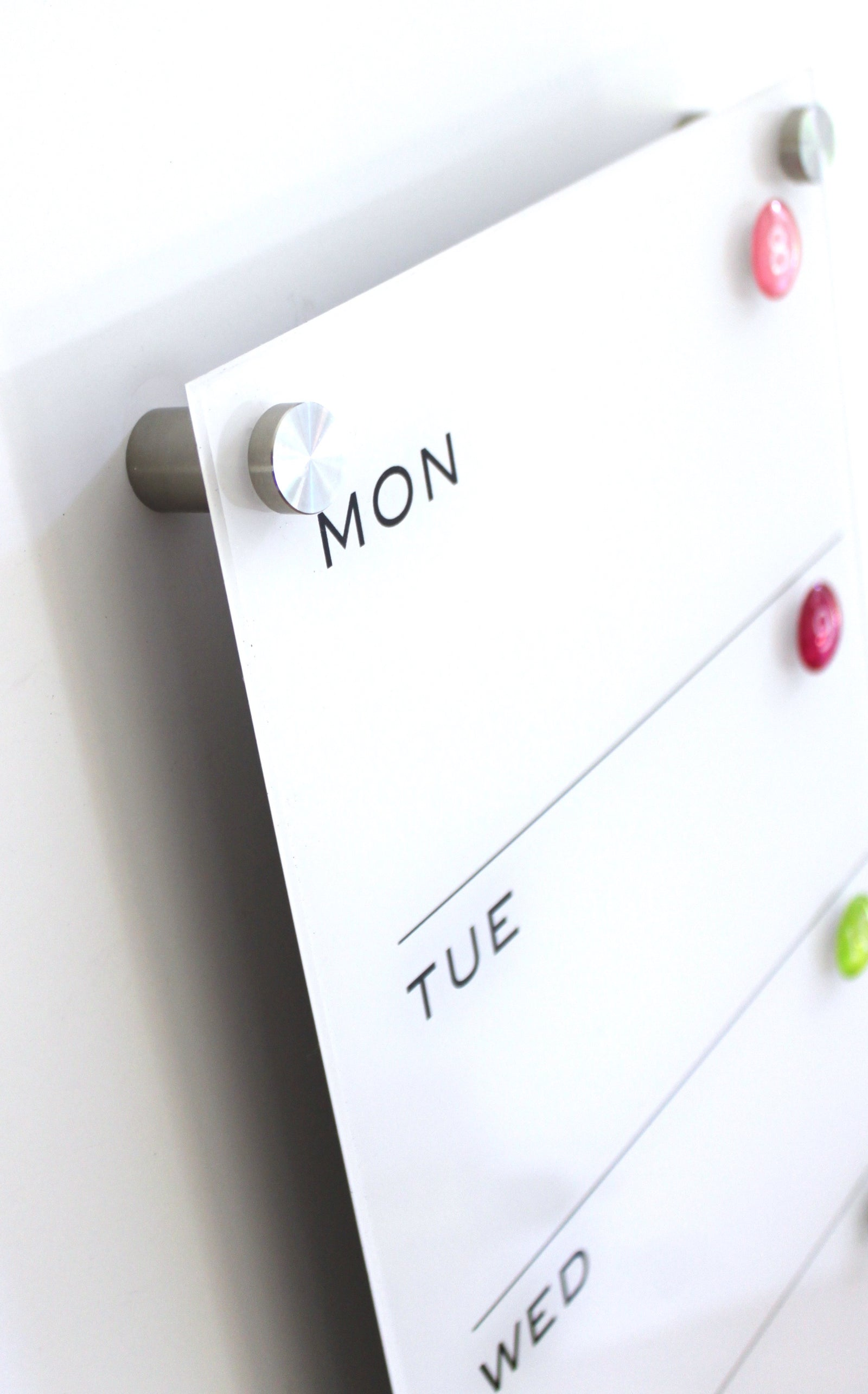 Magnetic Acrylic Calendar 7 Day Weekly
