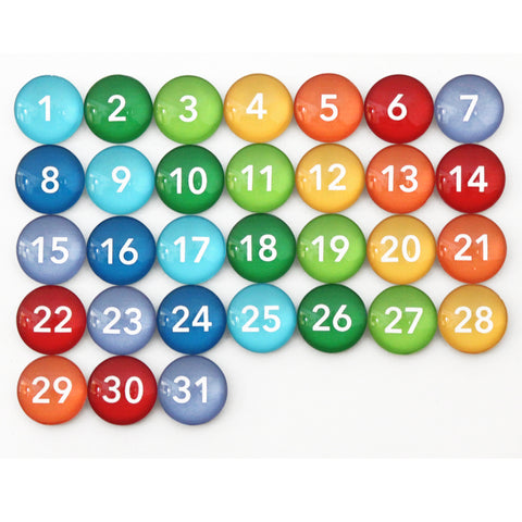 Number Magnets - Red - handwriting font