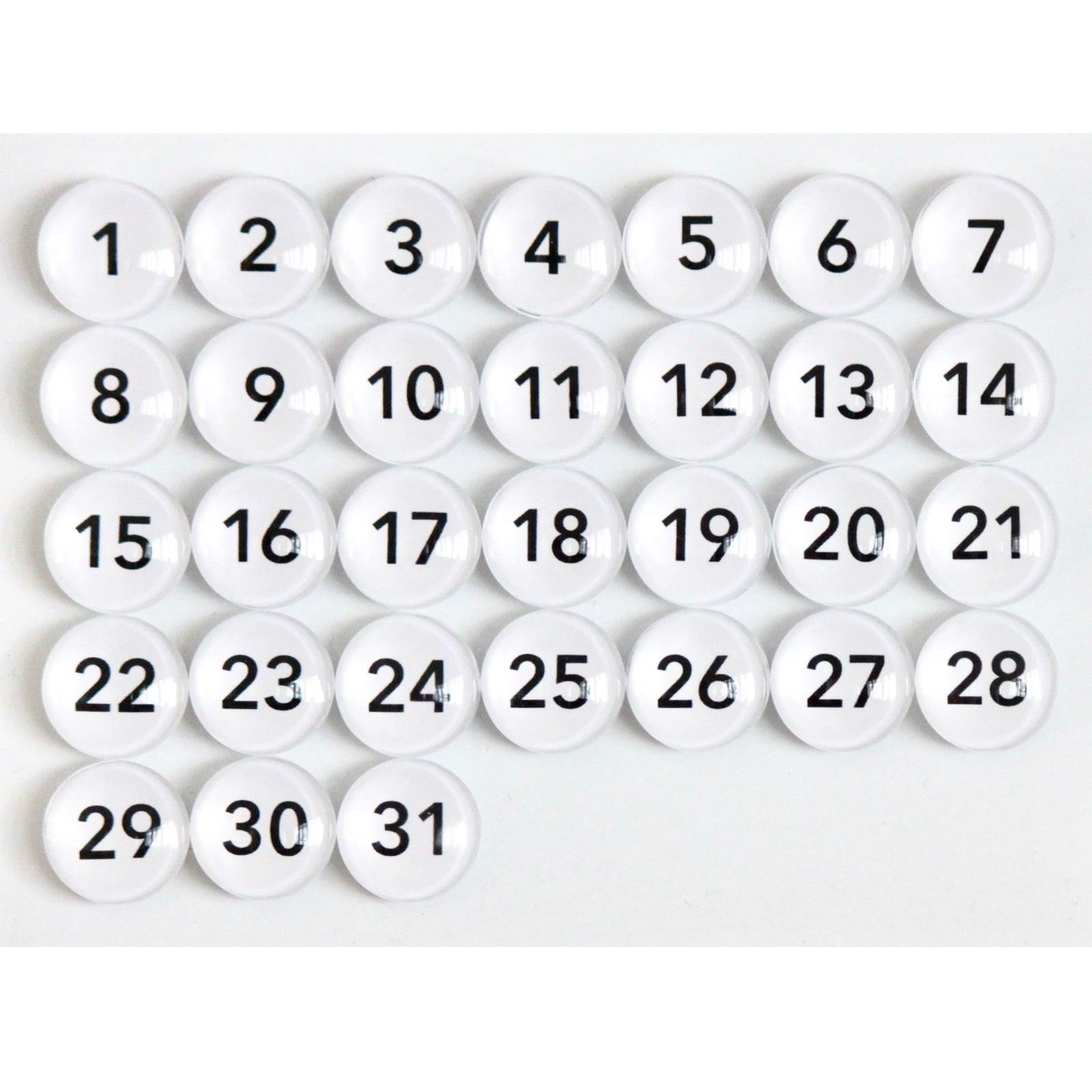 Number Magnets - White -  avenir font