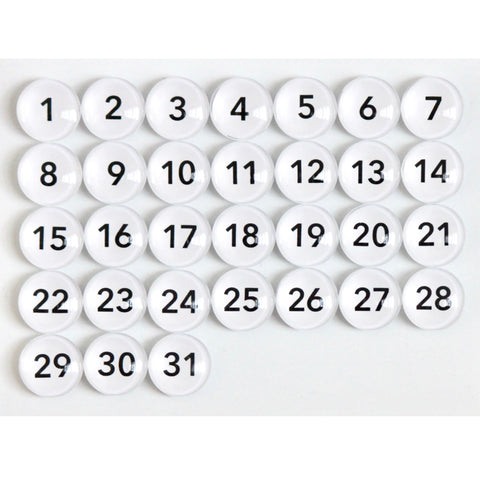 Number Magnets - Black -  avenir font