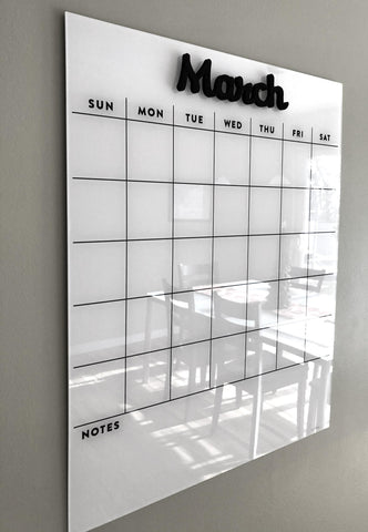 Acrylic Fridge Calendar