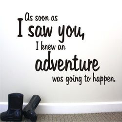 Adventure Quote Decal