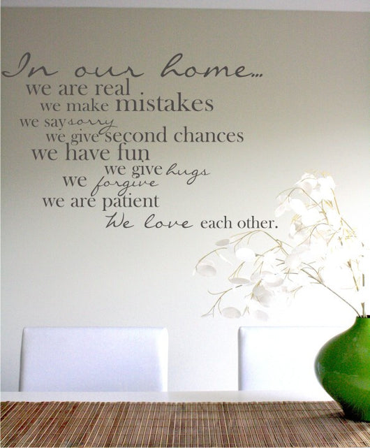 In our home Decal