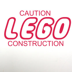 Caution LEGO Construction Decal