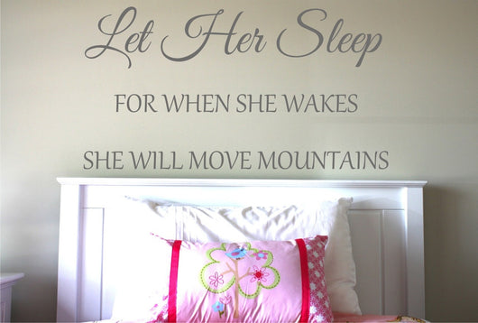 Let Her Sleep ~ Design 2