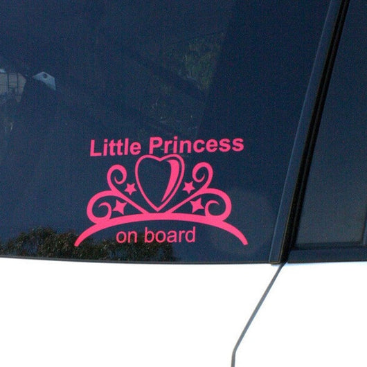 Little Princess on Board ~ Car Decal