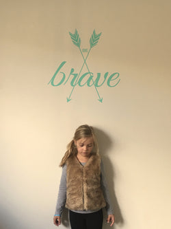 Be Brave Arrow Decal