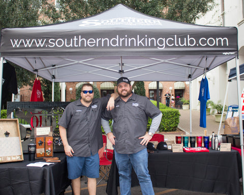 Brian and Jeremy repping Southern Drinking Club in Galveston