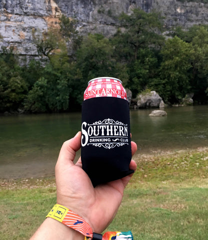 Drinking on the Guadalupe River
