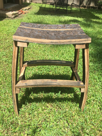whiskey barrel stool