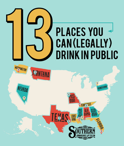 13 Places You Can(LEGALLY) Drink in Pulbic