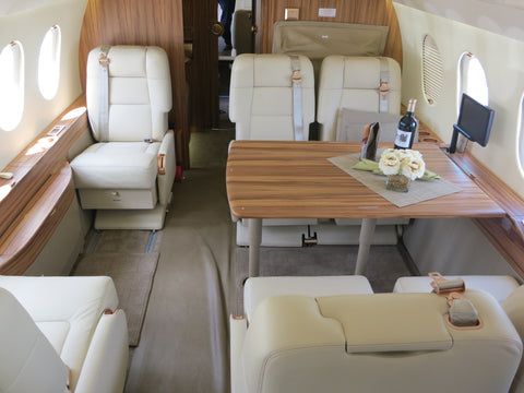 Flying on a Private Jet with Liquor