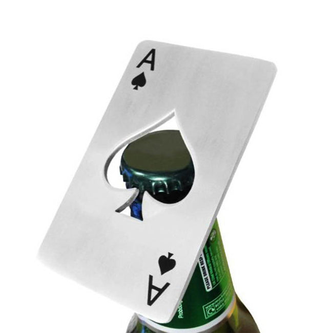 Card Bottle Opener Popping a Top