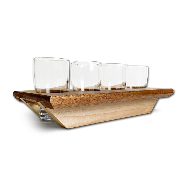 Beer / Whiskey Flight Set with Tasting Glasses