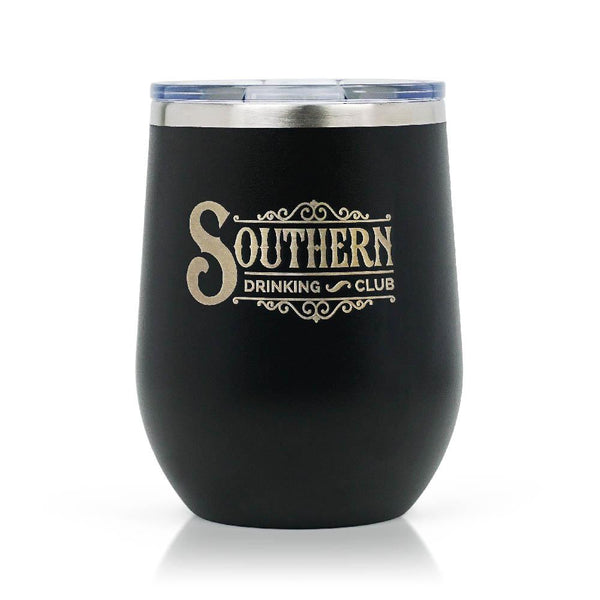 Black Wine Tumbler with Lid