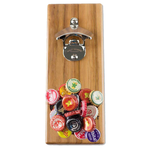 Magnetic Cap 'n' Catch Bottle Opener - Texas Come and Take It - Pecan
