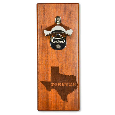 Magnetic Bottle Opener - Republic of Texas - Mahogany