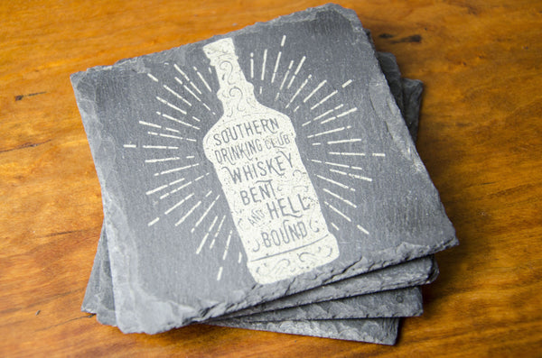 Whiskey Slate Coasters