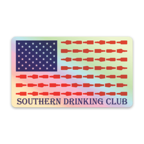Red White and Booze Flag Decal