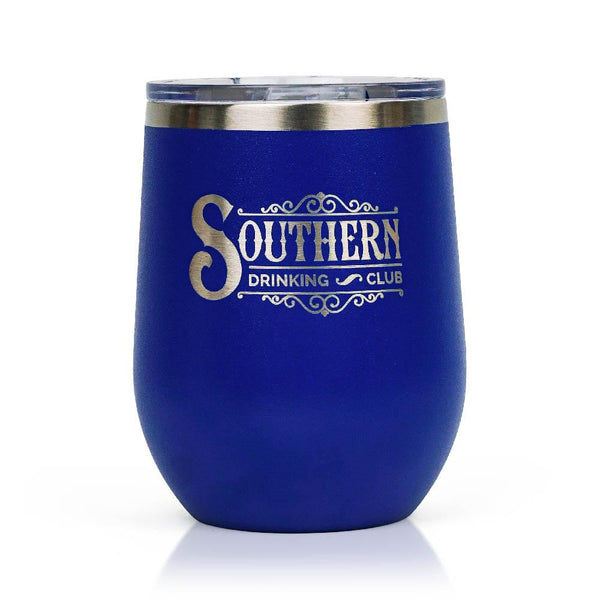 Royal Blue Wine Tumbler