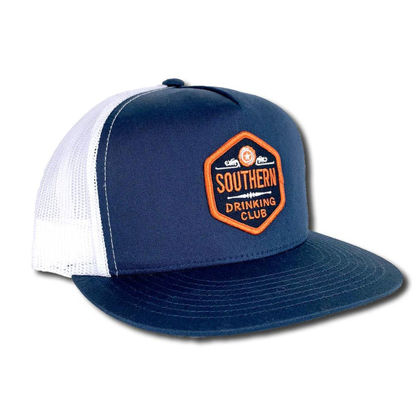 Southern Drinking Club Snap Back Trucker Hat