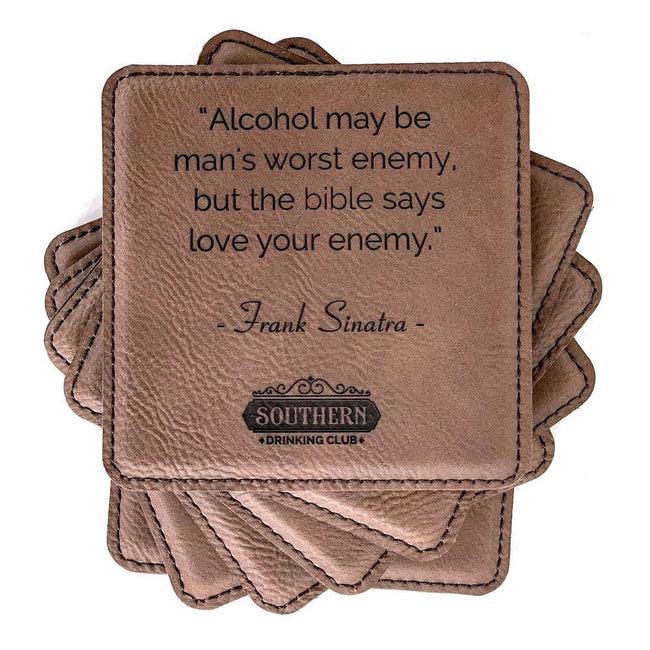 Drinking Quote Party Coaster Set