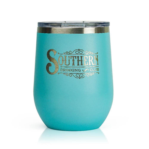 Teal  Stainless Steel Wine Glass