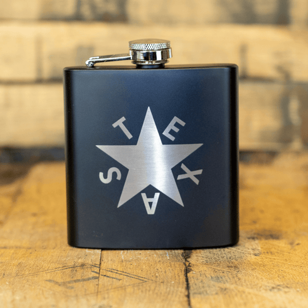 Texas Zavala Star 6 oz Hip Flask