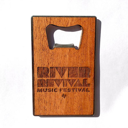 Magnetic Bottle Opener - Oil Patch Come and Take It - Mahogany