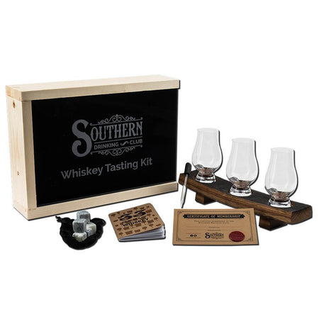 Cigar Holder and Whiskey Coaster with Glencairn Tasting Glass