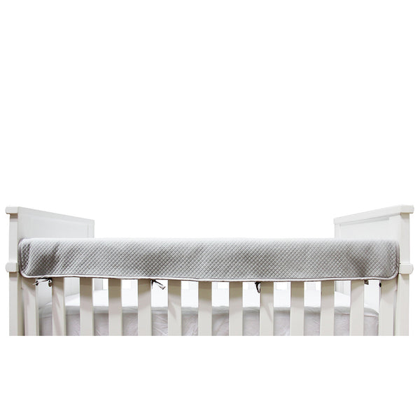 Diamond Matelasse Crib Railing - Grey - Living Textiles Co.