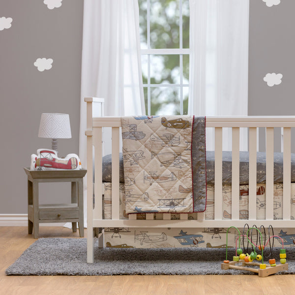 Baby Quilted Comforter - Aeroplanes