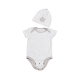 Gift Set - Grey Bodysuit & Beanie (0–3 Months) - Living Textiles Co.
