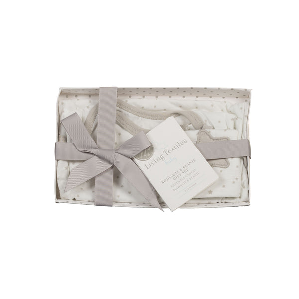 Gift Set - Grey Bodysuit & Beanie (6–12 Months) - Living Textiles Co.