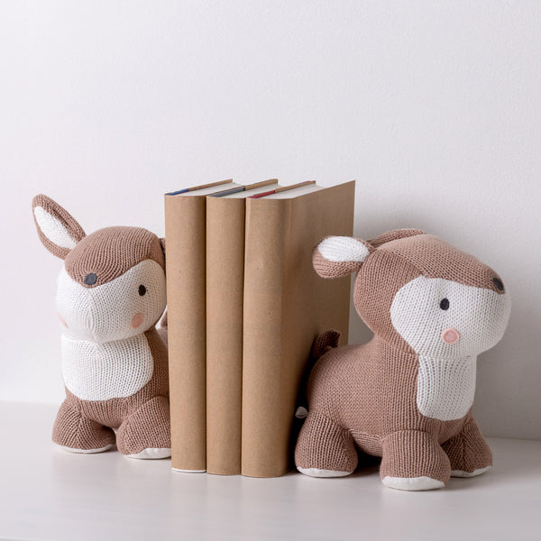 Knitted Bookend Friends - Deer