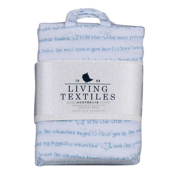 Change Pad Cover - Stars and Quotes - Living Textiles Co.