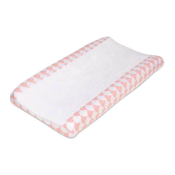 Changing Pad Cover - Kayden Pink Scallops