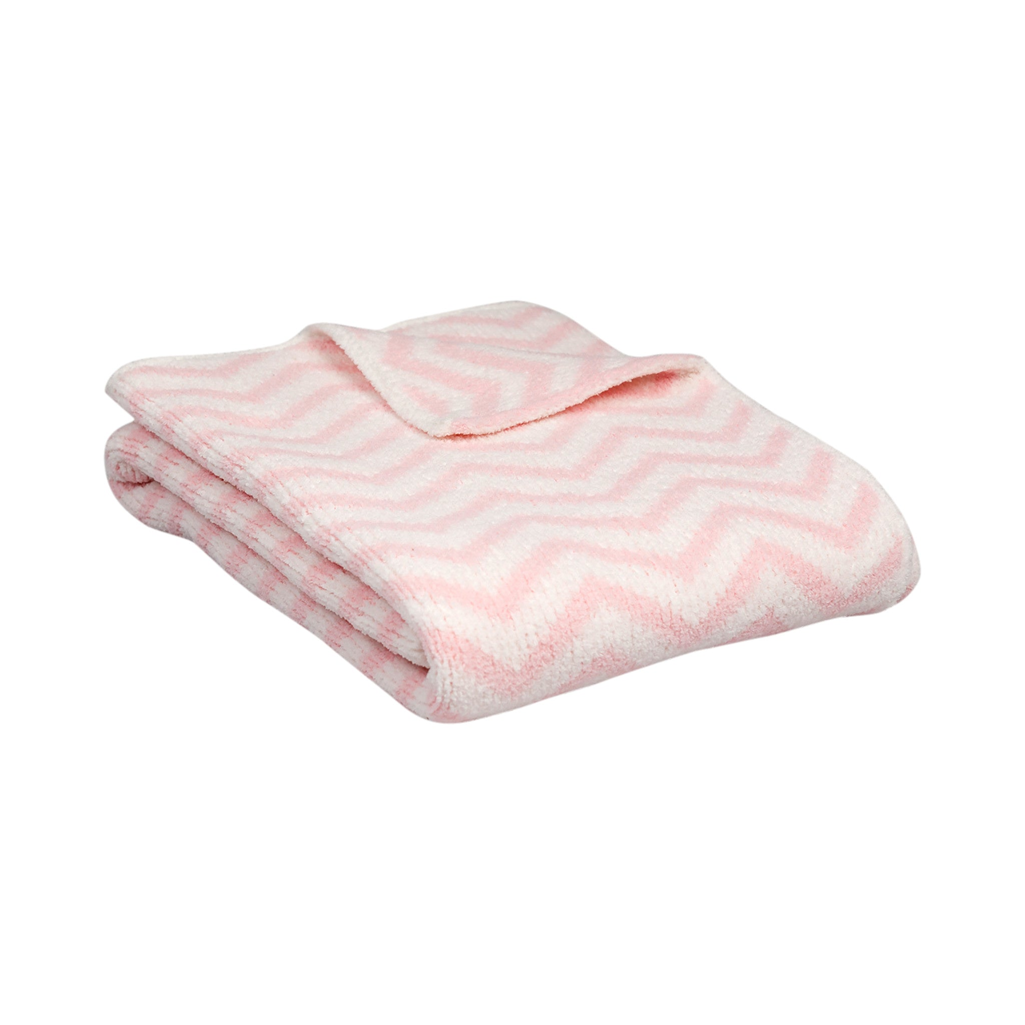 Chenille Pink Crib Bed