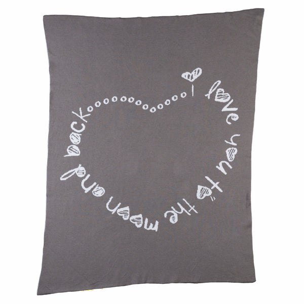 Infinite Love Knitted Blanket - Living Textiles Co.