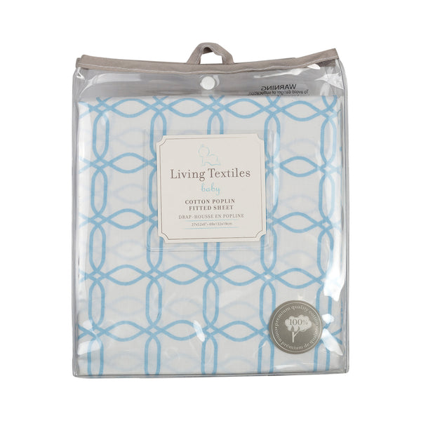 Fitted Sheet - Blue Links - Living Textiles Co.