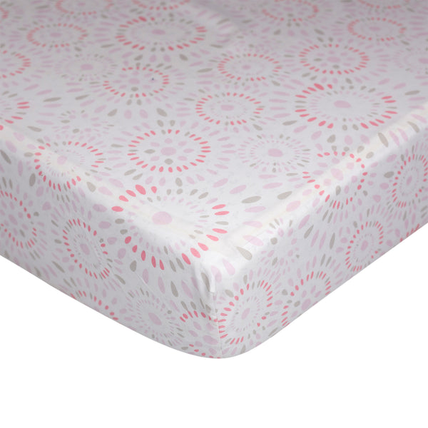 Fitted Sheet - Pink Confetti - Living Textiles Co.