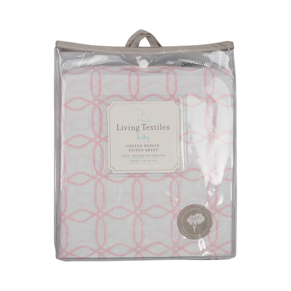 Fitted Sheet - Pink Links - Living Textiles Co.