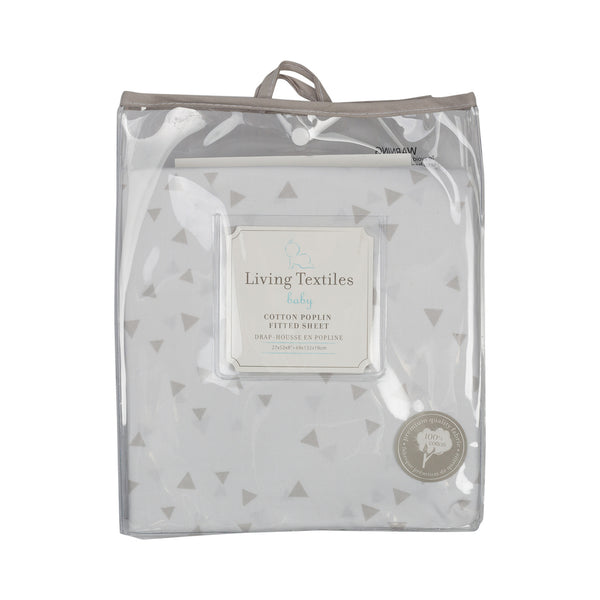 Fitted Sheet - Speckled Triangle - Living Textiles Co.