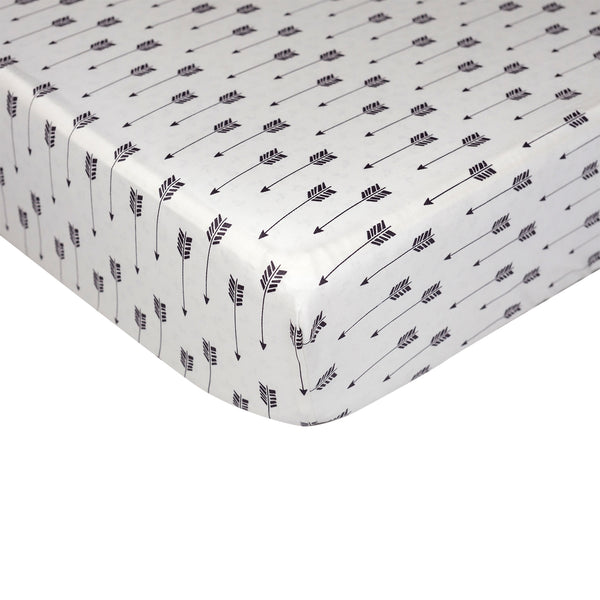 Fitted Sheet - Arrow Print - Living Textiles Co.